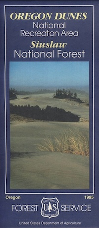 oregon dunes map