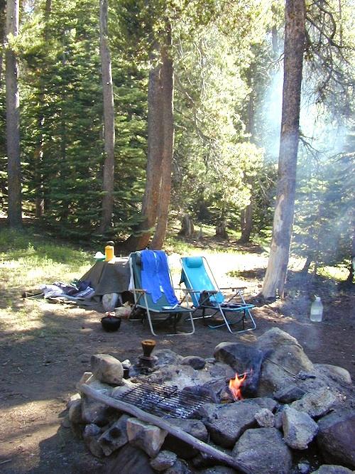 campfire morning